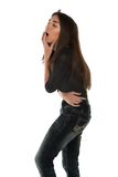 Black blouse Royalty Free Stock Images