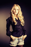 Black blouse Stock Photography
