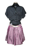 Black blouse and violet skirt Stock Image