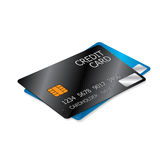 Black and Blue Credit Cards Royalty Free Stock Photo