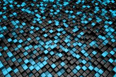 Black and blue cubes background Stock Images