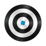 Black and Blue Darts Target Aim on White Royalty Free Stock Photo