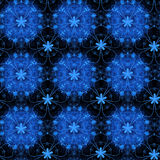 Black and blue floral pattern Stock Photography