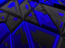 Black & blue futuristic constructions Royalty Free Stock Images