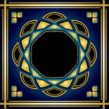 Black and blue and gold vector card Stock Photography