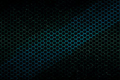 Black, blue and green metallic mesh background texture Stock Photos