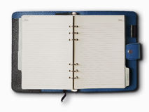 Black and Blue leather cover Stock Photo