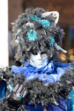 Black and blue mask at the Carnival of Venice Royalty Free Stock Images
