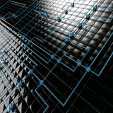 Black and blue metal cubes Royalty Free Stock Photography
