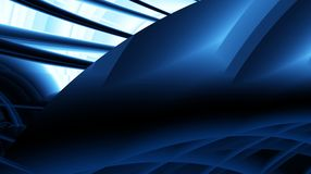 Black blue navy modern abstract fractal art. Complex background illustration with varied structures. Sci-fi mood. Computer generat Stock Images