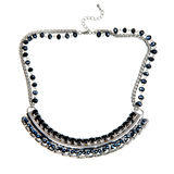Black and blue necklace Stock Image
