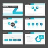 Black blue presentation templates Infographic elements flat design set for brochure flyer leaflet marketing Royalty Free Stock Images