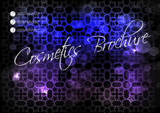 Black blue purple background with star design for cosmetic brochure Royalty Free Stock Image