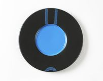 Black and blue saucer Royalty Free Stock Images