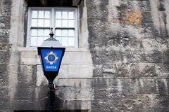 Black and Blue Sconce Lantern Stock Image
