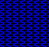 Black on blue simple fish pattern seamless repeat background. Two colour simple fish pattern seamless repeat background. Could be used for background pattern vector illustration
