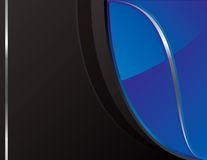 Black_and_blue_tech_background_2 Royalty Free Stock Image