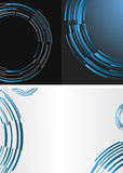 Black and blue template Stock Photography