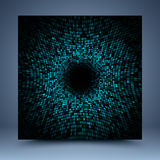 Black and blue mosaic abstract background. Black and blue geometric mosaic abstract background Royalty Free Stock Photo