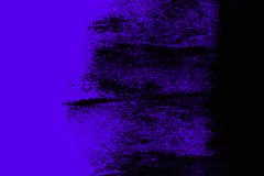 Black and blue ultraviolet hand painted background texture with grunge brush strokes stock image
