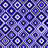 Black blue and white aztec ornaments geometric Royalty Free Stock Images