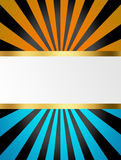 Black, blue and yellow stripes Stock Images