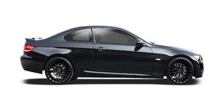 Black BMW coupe series 3 Stock Photo