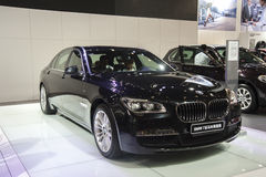 Black bmw7 series of horse limited edition car Royalty Free Stock Photos