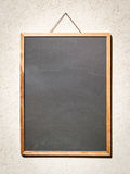 Black board. Blank wooden menu board - nice background with space for text Royalty Free Stock Photos