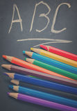 Black board with ABC Royalty Free Stock Photos