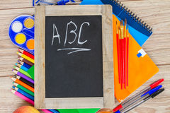 Black board with ABC Royalty Free Stock Photo