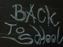 Black board back to school. Black board with back to school Royalty Free Stock Photography