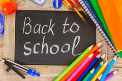 Black board with back to school Royalty Free Stock Photos