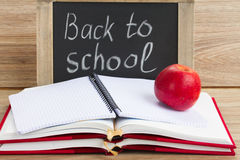 Black board with back to school Stock Photography