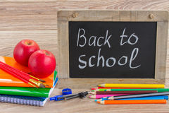 Black board with back to school Stock Image