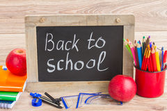 Black board with back to school Royalty Free Stock Photo