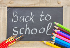 Black board with back to school Stock Images