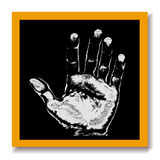 Black board chalk hand print Stock Image