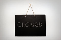 Black board closed Royalty Free Stock Image