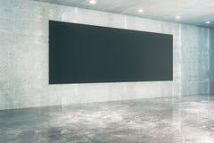 Black board concrete interior Stock Photos