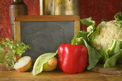 Black board for cooking recipe Royalty Free Stock Image