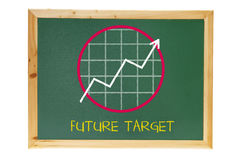 Black Board with Growth Diagram Stock Images