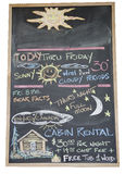Black board with handwritten weather forecast Stock Photo