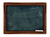 Black board with a king wood frame Stock Photography