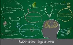 Black board, lorem ipsum concept. Vector and illustration Stock Photo