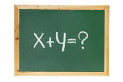 Black Board with Math Equation Royalty Free Stock Images