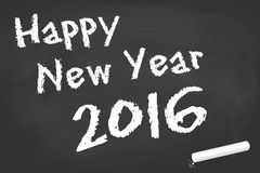 Black board for New Year 2016 greetings Stock Photo