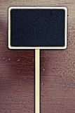 Black board onr wood panel Royalty Free Stock Images