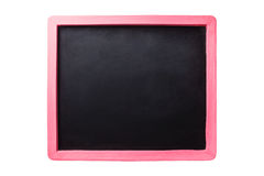 Black board with pink border Royalty Free Stock Images