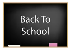 Black board reading back to school Royalty Free Stock Photos